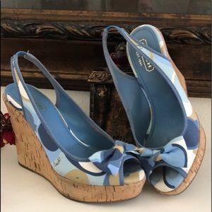 COACH wedges blue colors/white combination 🔥